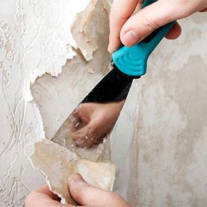 Снять бумажные обои со стен или потолка своими руками