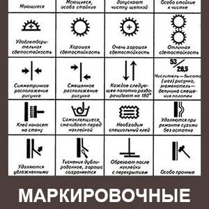 Маркировочные символы